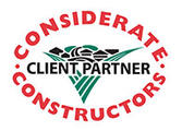 Considerate Constructors logo showing text 'Client Partner'
